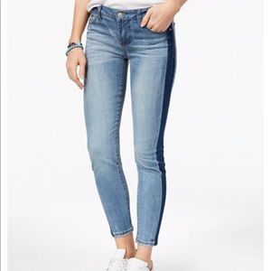 NWOT mid rise ankle skinny jeans contrast stripe